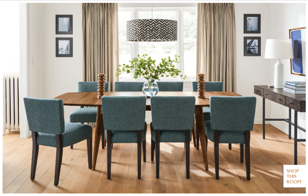 teal-dining-room