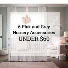 Pink and Grey Nursery Accessories