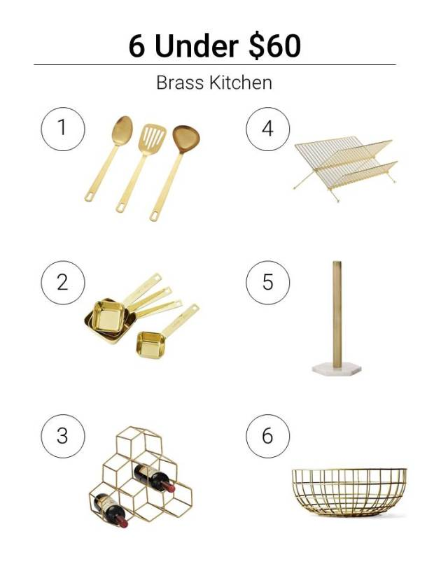 6 Under $60 Brass Kitchen