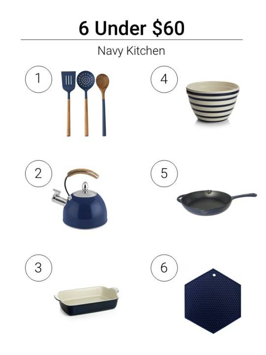 6 Under $60 Navy Kitchen