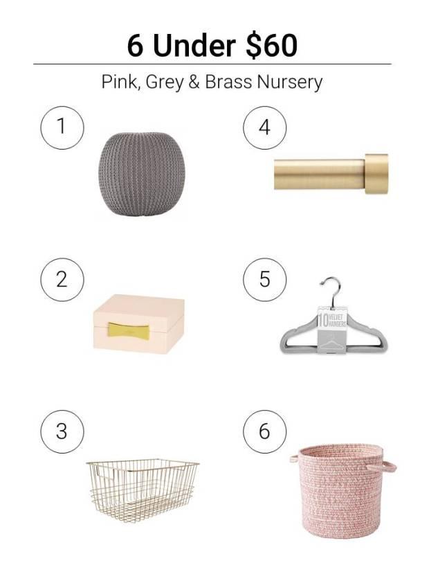 6 Under $60 Pink_Grey_Brass Nursery