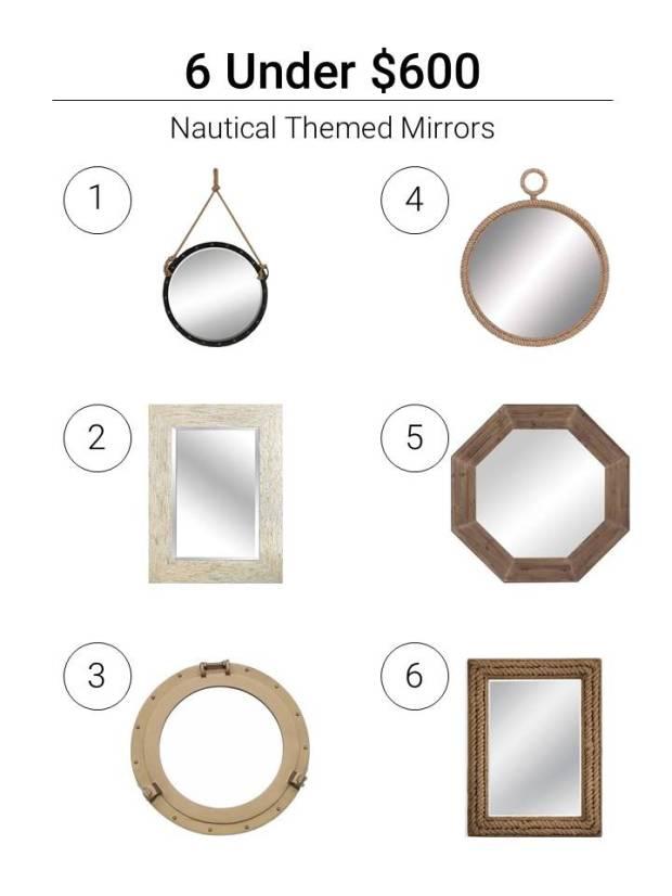 6 Under $600 Nautical Mirrors