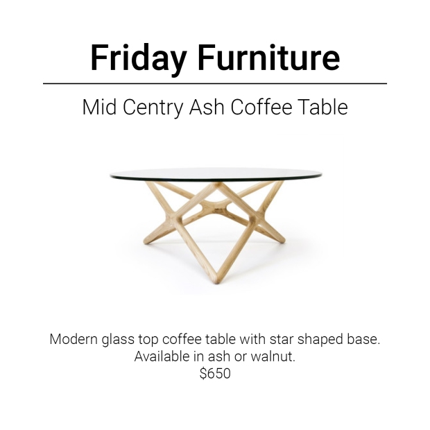 Friday Furniture- Ash Mid Century Coffee Table