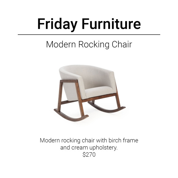 Friday Furniture- Modern Rocking Chair