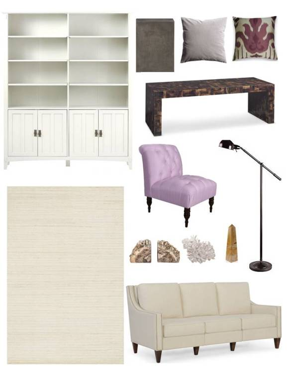 Lilac Luxe Living Room