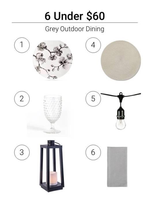 6 Under $60 Grey Outdoor Dining