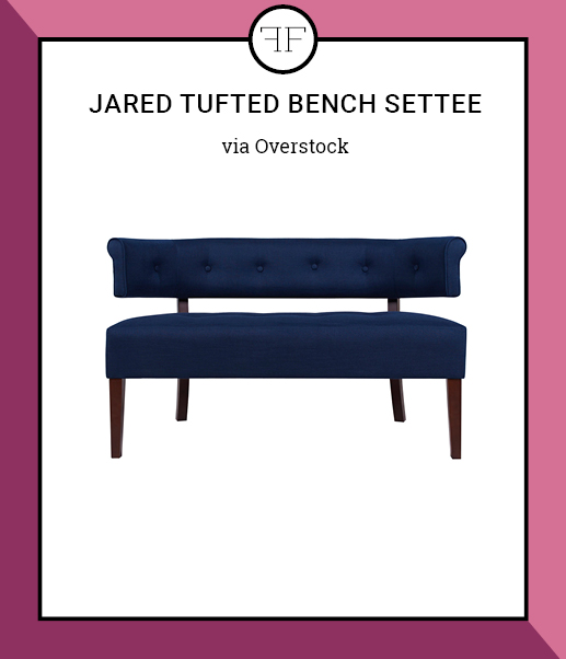 Friday Furniture- Jared Tufted Bench Settee