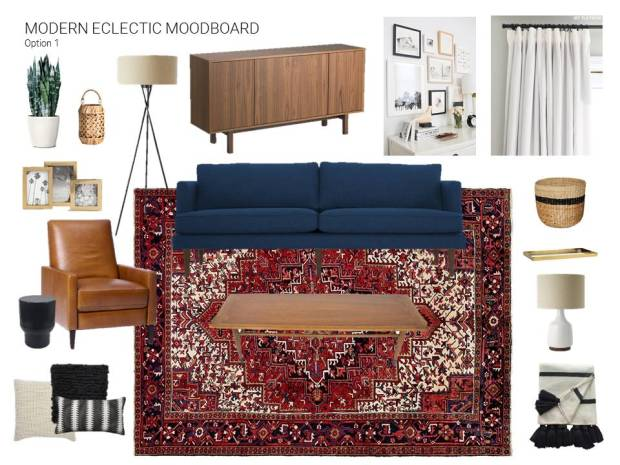 Living Room Mood Board Option 1