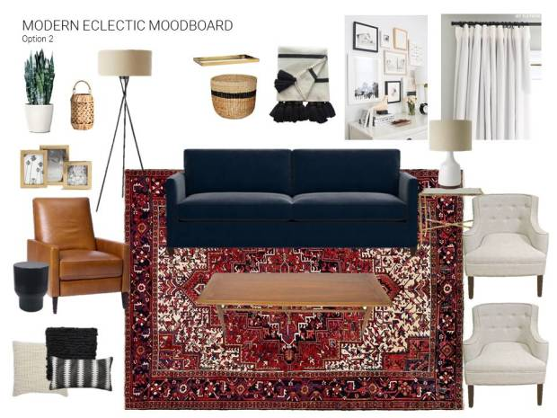 Living Room Mood Board Option 2